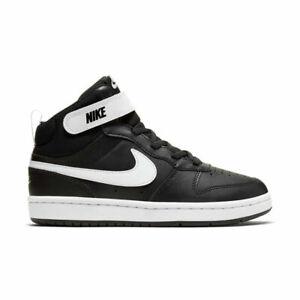Scarpe ginnastica bambino Nike Court Borough Mid 2 (Psv) CD7783 Nero in pelle