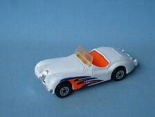 MATCHBOX JAGUAR XK 120 white BODY English SPORTS CAR TOY modello USA emissione RARA