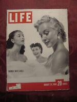 LIFE Magazine August 21 1950 KOREA WAR Bubble Bath Girls Peep Show