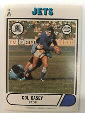 1976 Scanlens Rugby League Card #29 Col Casey Newtown Jets NRL footy