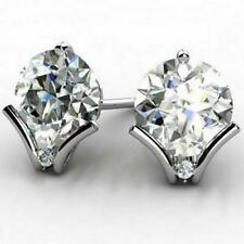 2 Ct Round Cut Lab-created White Diamond Stud Earrings 14k White Gold
