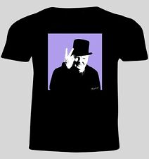 Winston Churchill Medium Designer T Shirt, High Quality Gildan & Screen Print