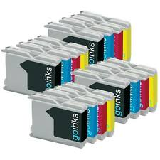 16 Ink Cartridges (Set) to replace Brother LC970 & LC1000 non-OEM /Compatible