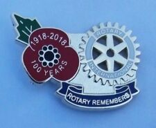 ROTARY INTERNATIONAL 1918-2018 WW1 POPPY REMEMBRANCE PIN BADGE