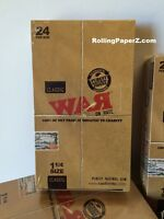 """FULL BOX of """"WAR on Hate"""" 1 1/4 Rolling papers by RAW 24 PKS Limited Collectible"""