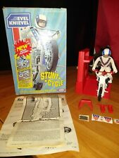 Vintage 70s Ideal Evel Knievel Stunt Cycle  with Original Box