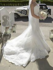 Blue by Enzoani Jenny Size 8 Wedding Dress Lace Ivory