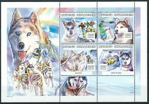 Zentralafrika - Schlittenhunde Kleinbogen postfrisch 2001 Mi.Nr. 2666-2669