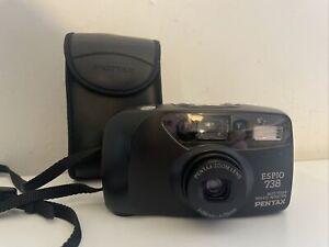 Pentax Espio 738 Point & Shoot compact 35mm Film Camera!Tested VGC Unused