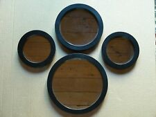 (SET OF 4) MCS INDUSTRIES ROUND WALL MIRRORS OF VARYING SIZES, 2010