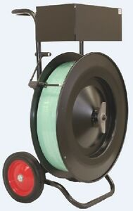 """Premium Oscillated Strapping Cart Dispenser with Brake 16"""" Core"""