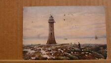 """Posted 1916 Postcard New brighton the lighthouse """"oilette"""""""