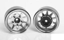 "OEM Stamped Steel 1.55"" Beadlock Wheels CHROME Z-W0264 RC4WD 12mm HEX TF2 G2"