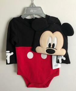 Disney Baby Store Mickey Mouse Costume 6-9M Infant/Toddler Bodysuit - Brand New