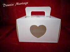 boite à gâteau blanc pour mariage ou baptême x25