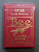Red Golden Bee Playing Cards printed by USPCC