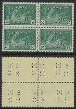 Scott O272 position C, 50c Logging Peace Issue 4-hole OHMS MINT BLOCK of 4 VF-NH