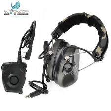 Tactical zSordin Headset Hunting PTT Hearphone Pickup Noise Cancel Fit Baofeng