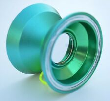 Acid Unresponsive Professional Trick String Magic YoYo Anodized Metal Green