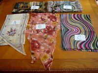 Lot of 5 Vintage scarfs scarves rectangular assorted fiber and sizes