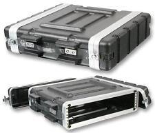 """Pulse 2U 19"""" ABS Caja de equipo de vuelo Protectora Montaje en Rack DJ PA Amp Equipo"""