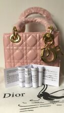 Authentic Dior Lady Dior Mini Bag in Pearly Pink Colour