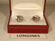 Vintage LONGINES: Cal'410:  Original Watch Movement Cufflinks on SOLID SILVER