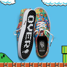 NEW - NINTENDO x VANS Men's 'AUTHENTIC SUPER MARIO BROS ' Athletic SHOES - 10