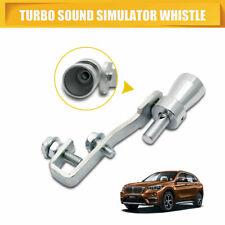 sourcing map Automatica universale marmitta scarico tubo Turbo fischietto Simulatore suono argentato S tipo