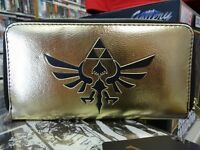Legend of Zelda Zippered Official Purse Gold & Black by Bioworld