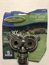GreenThumb Twin Circular Pattern Sprinkler Small Area Coverage 131036
