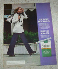 1974 print ad page - Salem Cigarettes SEXY GIRL smoking tobacco advertising