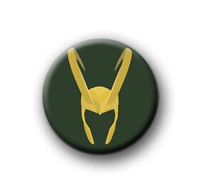 "LOKI / 1"" / 25mm / pin button / badge / film / movie / Marvel / Avengers / Thor"