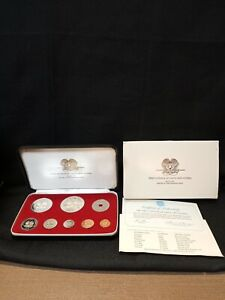 First Coinage of Papua New Guinea~1975 Proof Set~Certifications~by Franklin Mint