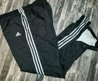 Vintage 90s Adidas 3 Stripes Spell Out Nylon Windbreaker Track Pants Mens Large