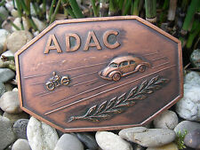 1950er anni MOTO e AUTO/Hanomag ADAC AUTOMOBILE CLUB PLACCA BADGE