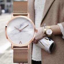 Unisex Watch Marble Case Metal Mesh Band Round Quartz Watch Men Women WristwatcΔ