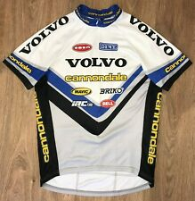 Volvo Cannondale rare vintage made in USA cycling jersey size L
