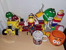 More details for m&m's world chocolate figure bundle candy dispenser car, plane, mug & green taxi