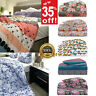 Luxury Designs Printed Pintuck Pleated Duvet Cover with Pillowcase Bedding Set