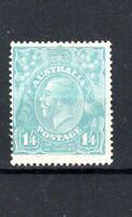 Australia 1923 1s 4d pale blue Sidehead MH