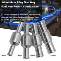Aluminium Alloy One Way Fuel Non Return Check Valve Petrol Diesel for Car