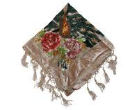 Triangle Fashion Burnout Velvet Shawl Wrap Scarf Fringes Crochet Design