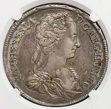 1742 NGC AU 50 HUNGARY Silver Thaler Maria Theresa Coin POP 4/2 (16051801D)