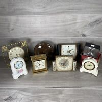 8 x **SPARES & REPAIRS ** Clocks Carriage, Mantel etc, Smiths, Royal Doulton etc