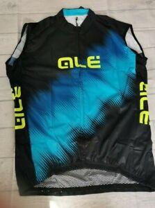 Ale Prime Men's Cycling Gilet, Black/Blue, XX-Large. ALE52