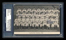 JEFF HEATH BUSTER MILLS 1942 CLEVELAND INDIANS SIGNED PHOTO PSA/DNA SLABBED AUTO