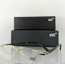 New Authentic MONT Blanc MB390 028 Eyeglasses Black Silver MB 390 Frame 56mm