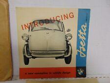 1957 BMW Isetta 300 Dealer Sales Brochure Folder Mini Car Excellent Original