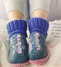 Ladies Fair Isle Slipper Socks With Garter Stitch Soles DK KNITTING PATTERN